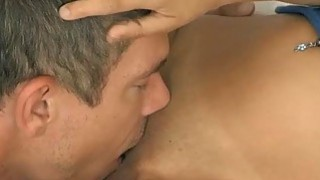 Stretching and wrecking Arias pink hungry pussy