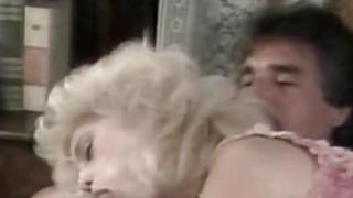 Barbi Dahl Busty Blonde Girl Riding An Old Cock