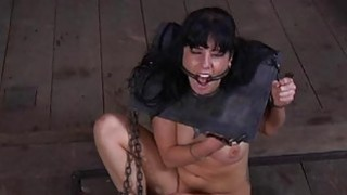 Gal in latex costume gets slit and anal prodding