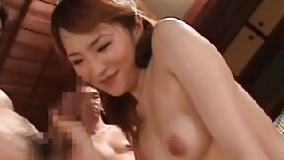 Pretty angel is showing off her lovemaking skills