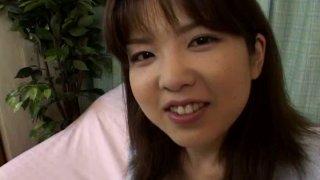 Smiling hooker Wakana Sakai gets blindfolded for some sex game