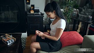 Ponytailed Latina rides it in POV