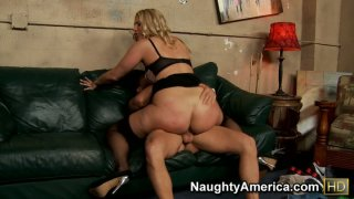 Nasty blonde Jordan Kingsley getting her pussy eaten and giving a hot blowjob before jumping on a cock as crazy