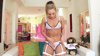 Extra creamy anal filling for Candice Dare