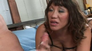 Sperm addicted busty brunette Ava Devine is pro in pleasing a dick