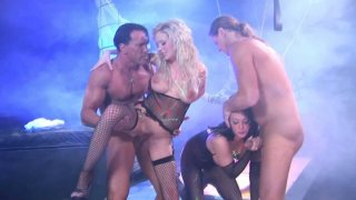 Tory Lane and Hillary Scott enjoy cocks at night party