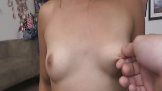 Tiny asian tits play and ass spread