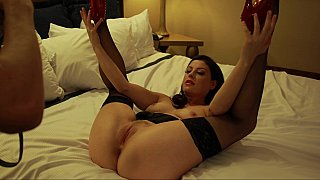 Naughty girlfriend spreads her legs handsomely