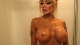 Busty blonde Houston nude performance