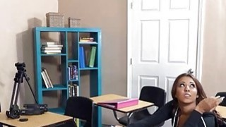 Slutty teen student Sophia Torres ass fucked by her teacher