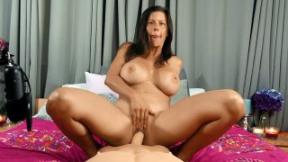 Bigtit Alexis Fawx is riding the dildo in POV